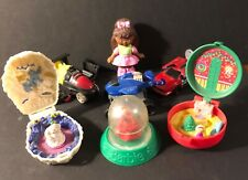 Mcdonalds Barbie Snow Dome Holidome  Happy Meal 1993 Totally Toy Holiday plus 6