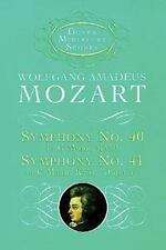 Dover Miniature Music Scores: Symphonies Nos. 40 and 41 by Wolfgang Amadeus Moza