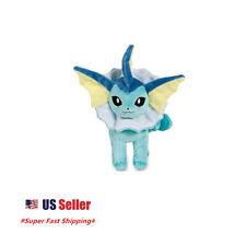 "New Pokemon Eevee Evolution  Vaporeon Plush Toys Soft Stuffed Doll 8""  US Seller"