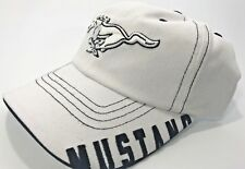 Ford Mustang Licensed White Hat Embroidered Grill Pony Emblem