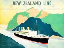 ozean reederei liner boot schiff neuseeland neu kunstdruck poster cc4528