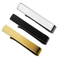 3 Pieces Stainless Steel Tie Bar Formal Men Necktie Clip Clasp Party Jewelry