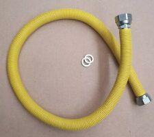 TUBO FLESSIBILE ESTENSIBILE GAS RIVESTITO GIALLO INOX  A NORMA FF CM.75/CM150