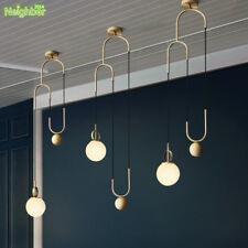Modern Lifting Glass Ball Hanging Lamps Metal Ceiling Pendant Lights