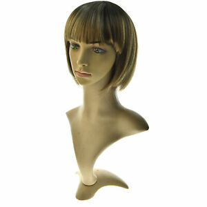 Blond Women Bob Straight Hair Wig Synthetic Short Wig Cosplay Party