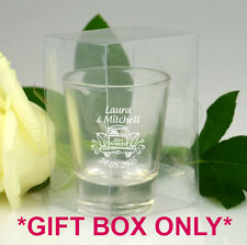 Personalised Favours Wedding Gift Boxes ONLY - For Shot Glasses - Clear PVC