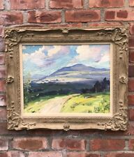 C1940 Post Impressionist New Hampshire Landscape Oil Painting. Signed Bela Mayer