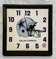 Lafayett Watch Co Dallas Cowboys Wall Clock NFL Football Vintage RARE