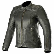 Alpinestars Gal Ladies Leather Motorbike Motorcycle Jacket Black