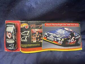 NEW! Hot Wheels NASCAR #6 Mark Martin Roush Racing Eagle One 1998 Ford Taurus
