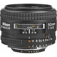 Nikon Normal AF Nikkor 50mm f/1.4D Autofocus Lens NEW