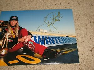 LEAH PRITCHETT NHRA DRIIVER SIGNED 11X14 PHOTO coa
