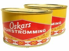 Oskars Surstromming Surströmming 2 x 300 Gram Fermented Herring Made in Sweden