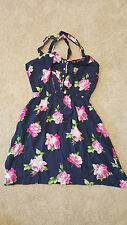 Brand New Gilly Hicks Womens Dress Navy Blue Pink Flowers Size Medium