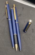 Vintage Mont Blanc Slim Line Pen Set 3