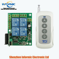 4 channel electric remote control switch module 12VDC with 4 key remote set