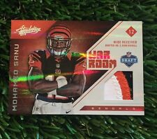 2012 ABSOLUTE MOHAMED SANU WAR ROOM 3 COLOR PATCH CARD #ED /49 BENGALS