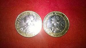 Brittania £2.00 coins 2015/2016(one of each)