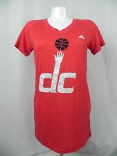 NEW Women's Washington DC Wizards Basketball Red V Neck T-Shirt Size L (S1-85)