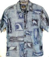 Quiksilver Waterman Collection-Mens Hawaiian Shirt, Extra Large-XL, Blue, Casual