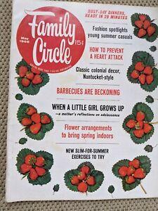 Family Circle Magazine May 1966 Vintage Mid Century MCM Decorating