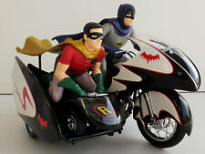 1966 TV series Batcycle con sidecar Batman y Robin Hot Wheels elite Cmc85