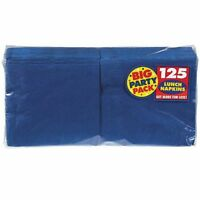 Big Party Pack Luncheon Napkins 13 in. x 13 in. , 125/Pkg, Bright Royal Blue