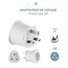 Adaptateur Prise Electrique de Voyage France vers Royaume Unis Angleterre Ecosse