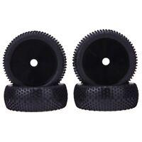 4PCS RC 1:8 Off Road Car Buggy Rubber Tires & Plastic Wheel Rims HUB HEX 17 I6L4