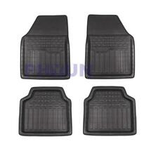 4PCS Heavy Duty Black Stripes Auto Car Floor Mats Front Rear Liner Weather Set