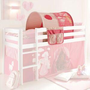 Tunnel+Bett-Tasche Stoff 100% BW Tasche Prinzessin für Hochbett Spielbett B-WARE