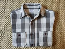 Warehouse Co. Heavy Flannel Work Shirt tag L Made in Japan