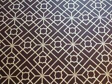 Schumacher- 100% Linen Trellis Lattice Fabric- Lu'an Fretwork/Java-  4.60 yds.