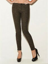 New GUESS Brittney Ankle Skinny Jeans Leopard Print, Size 31, NWT