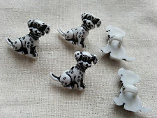 6 x Buttons Kids Clothing Knitting/Sewing Card Making Dalmatians