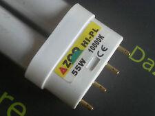 1 x AZOO hi-pl 55W 10000K 2G11 10k Bianco Acquario Acquario lampada tubo UK