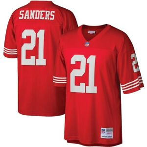 San Francisco 49ers Deion Sanders #21 Mitchell & Ness Red 1994 NFL Legacy Jersey