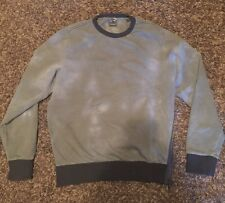 Diesel Flying Cougar Olive Black Sweatshirt Men's Large EUC Side Zip Rare