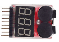 1-8S LED Lipo Battery Voltage Checker Indicator Tester Low Voltage Buzzer Alarm