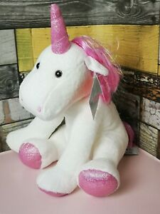 Cupcake Unicorn Soft Toy Medium plush pink new with tags