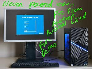 NEW Dell G5 intel i5-10400F 2.9 >4.3GHz Win10 500w 8gb RAM 128GB M2 & 1TB NO GPU
