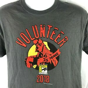 SDCC San Diego Comic Con 2018 Hellboy Volunteer L/M T-Shirt Medium Fit 41in Mens