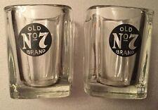 Jack Daniels Whiskey Old No7 Brand Shot Glasses x 2