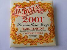 La Bella 2001 flamenco noir nylon plaqué argent dur nylonnguitar cordes