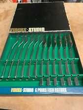 Viners Studio Set 6 'Fish Eaters' Cutlery Stainless Steel By Gerald Benney, 60s