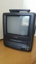 """Sansui 9"""" TV VCR Combo CRT COM0961B AC/DC Television VHS Tested Gaming w/ Remote"""