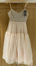 BNWT Needle & Thread Pink Beaded Tulle Dress - Size 12