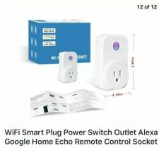 Two (2) Wi-Fi Smart Sockets Timing Switch Power Monitoring Alexa, Google, Echo