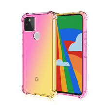For Google Pixel 5 XL 4A 4 XL Gradient Shockproof Clear Silicone TPU Case Cover