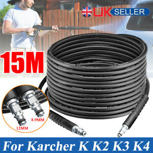 15M Pressure Washer Sewer Drain Cleaning Hose Tube Pipe Cleaner Karcher K Series